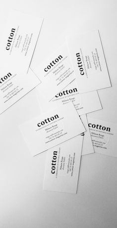 Cotton Magazine Businesscards.