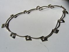 Scandinavian Silver: vintage designer silver and modernist jewelry - JTI Sterling necklace