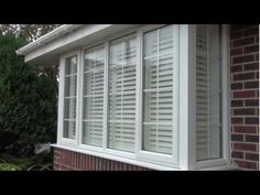 How to fit plantation window shutters onto a square box bay UPVC window Bay Window Exterior, Balcony Window, Interior Window Shutters, Bay Window Curtains, Upvc Windows, Sash Windows, House Windows, Blinds For Windows, Bay Window Treatments