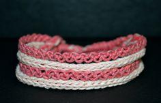 #pink #sisters a'manu por DaWanda.com #armband #bracelet #dyi #macrame #icord #crochet