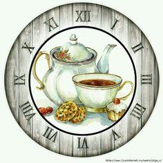Шаблоны циферблата Clock Face Printable, Disney Clock, Coffee Clock, Clock Flower, Decoupage Printables, Clock Art, Wood Clocks, Painted Wood Signs, Decoupage Paper