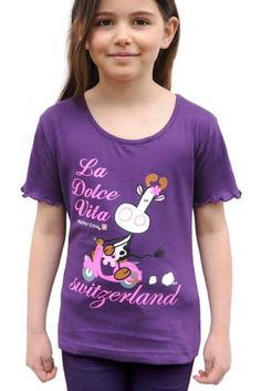 Mädchen T-Shirt Mumu Cow Dolce Vita, voilett Children need a good fabric quality in the T-shirts. Here you will find top products with good quality. Sport, Cow, Baby Kids, T Shirts For Women, Children, Fabric, Products, Fashion, Women's T Shirts