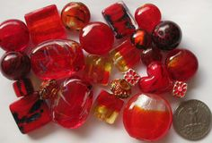 Buy it now on #Etsy! #MixedBeads #LooseBeads 24 Pcs #RedBeads #MuranoStyle #GlassBeads #jewelrymaking #crafts #beads http://etsy.me/2lsfey9