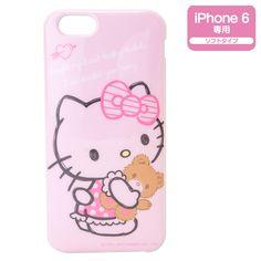 "Hello Kitty iPhone 6 (4.7"") Soft Cover Case Bear SANRIO JAPAN"