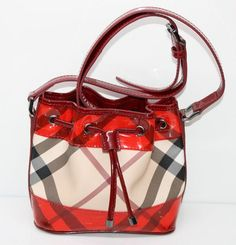 burberry outlet store online shopping hf1z  Burberry Small Nova Check Perspex Crossbody Bag Military Red