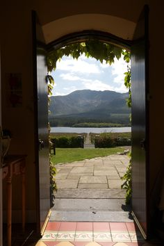Lough Inagh Lodge hotel in Galway - Original Irish Hotels Sea Sports, Country House Hotels, Connemara, Stunning View, Lodges, Canopy, Entrance, Irish, Places To Go