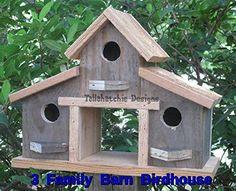 Amazon.com: Rustic Barn Birdhouse, Primitive Barn Birdhouse, Barn Birdhouse, Barnwood Birdhouse, Reclaimed Wood Birdhouse,: Handmade