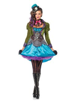 New Leg Avenue 85505 Deluxe Mad Hatter Female Adult Costume  #LegAvenue