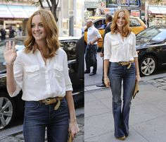 cloth, inspir style, fashionhair style, white shirts, street style, outfit, clutch, jeans, blues