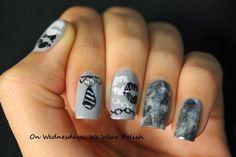 fifty shades of grey nail designs - Fifty Shades Of Grey Nail art Tutorial YouTube