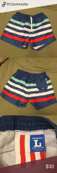 "Men's Large Chubbies Swim Trunks Never worn - perfect condition. Men's Large 7"" inseam Chubbies Swim Swim Trunks"