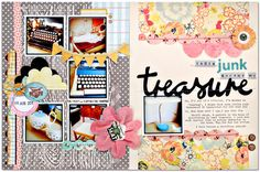page by August Guest Designer Kim Watson using our BOARDWALK kit