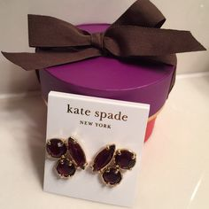 Kate Spade wine colored geometric earrings The color of fine wine… Heavy and substantial, these geometric post earrings will dress up all of your outfits- from day, to work, to evening. Brand-new with tags kate spade Jewelry Earrings
