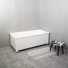 Badkar Fix 1500 inkl. helfront NORO Fix är ett stabilt och gediget badkar i vacker pärlande emalj. Fronten är i lackad aluminium och karet har ställbara f