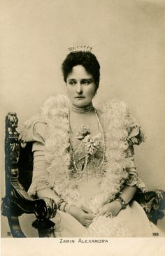 Her Imperial Majesty Tsaritsa Alexandra Feodorovna of Russia. It was noted that Alexandra was known for her imperious and cold demeanour that was more likely shyness and a misunderstanding on the role she should have played as Empress. With the birth of the haemophiliac Tsarevich her withdrawal from public life to protect her son would prove not only a political misstep but fatal for the Romanov family.