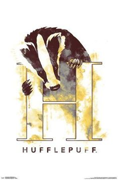 Trends International The Wizarding World: Harry Potter-Hufflepuff Illustrated House Logo Wall Poster, x Unframed Version Harry Potter Painting, Harry Potter Artwork, Theme Harry Potter, Harry Potter Drawings, Harry Potter Room, Harry Potter Pictures, Harry Potter Wallpaper, Harry Potter Aesthetic, Harry Potter Fandom