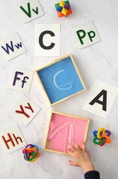 Easy Kid Organization DIY Ideas: Writing Practice Tray #organization #organized #home #homedecor #kidsbedroom