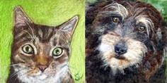 I'm delighted that you'd like to commission a unique wool artwork. Portraits can include people or pets or both! Pet portraits can even include your pet's fur!