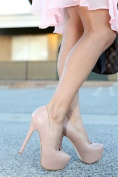 I have these....the nude heels that is....very comfy by the way...still working on the gams though.