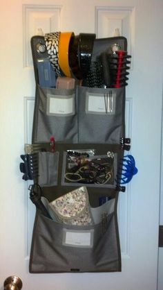 Hang Up Room Organizer for hair care.  To order this or other bags go to www.mythirtyone.com/tspringer