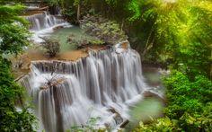 Tropical Rainforest Waterfalls | Galería - Fondo de pantalla Thailand Waterfalls In Tropical Forest ...