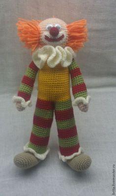 Clown Crochet Dolls, Knit Crochet, Amigurumi Patterns, Crochet Patterns, Send In The Clowns, Doll Toys, Crochet Projects, Knitting, Etsy