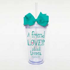A friend loves at all times bible verse scripture by SweetSipsters, $12.00