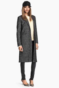 Abrigo jaspeado mezcla de lana | H&M