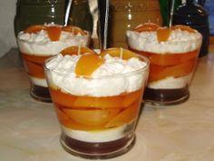 fruit parfait candle - peach