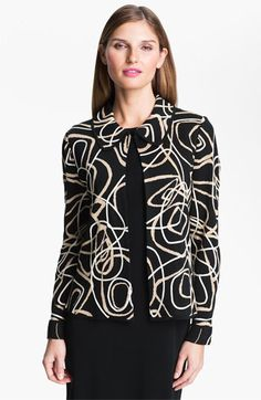 2d74d606d34 Ming Wang Abstract Pattern Jacket available at  Nordstrom Swirl Design
