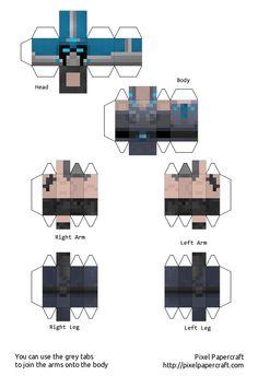 Papercraft Minecraft Xbox 360 Skin Pack 1