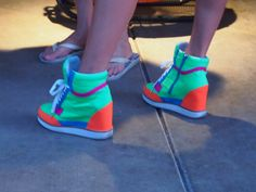 Neon Wedge Sneakers at The Ace Hotel in Palm Springs