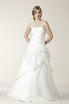 Silk Organza, Draped, A-Line - Belden | Designer Wedding Dresses | Amy Kuschel Bride | Couture Bridal Gowns | Clever Couture