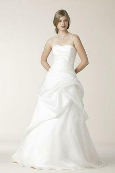 Silk Organza, Draped, A-Line - Belden | Designer Wedding Dresses | Amy Kuschel Bride | Couture Bridal Gowns | Clever Couture