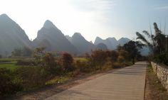 Yangshuo, China--the rural, riverside bike path.