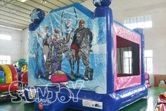 Frozen inflatable jump house for sale, get more intersting and high quality inflatable bouncers from sunjoy.