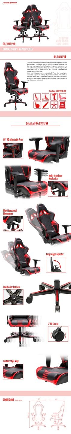 OH/RV131/NR - Racing Series - Gaming Chairs | DXRacer Official Website - Best Gaming Chair and Desk in the World