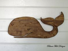 Wooden Whale Wall Hanging / Nautical Nursery by PalmerFallsDesigns, $40.00