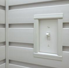 GearWall® Panel Trim - Stuff to put in the Wood Shop - Garage Workshop Brown Garage Door, Garage Door Trim, Garage Door Styles, Garage Walls, Garage Cabinets, Garage Wall Storage, Garage Storage Systems, Diy Garage, Locker Storage
