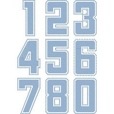 Jersey Numbers - Template templates, numbers