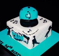 Hip hop dance cake