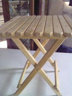 Mesa plegable de madera - artesanum com