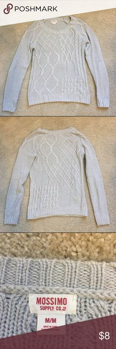 Gray Silver Sweater Warm and cozy gray sweater, only worn a few times! In excellent condition. Machine washable. Hard to tell in the photo, but has silver threads sewn in, so there's a little bit of sparkle! Merona Sweaters Crew & Scoop Necks