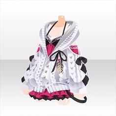 上半身/インナー 隠神タヌキニットスタイルBホワイト Manga Clothes, Drawing Clothes, Anime Outfits, Cool Outfits, Fashion Outfits, Clothing Sketches, Fashion Sketches, Style Feminin, Anime Dress