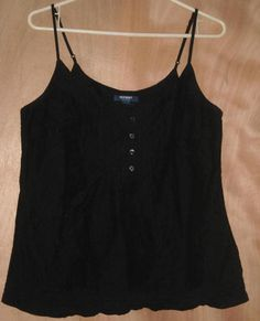 Old Navy Black Cotton Top Size Large Free Shipping in the USA Price:US $10.99