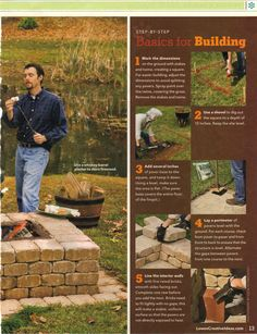 DIY fire pit from Lowe's