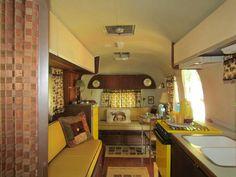 Retro trailer interior