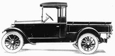 This picture was taken from the 1924 pickup's sales literature. The open cab was constructed of wood as was the cargo box.