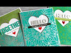 Layered Heat Embossed Backgrounds + Blog Hop + GIVEAWAYS - Jennifer McGuire Ink
