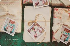 Great gift tag idea...from Simply Rosie Photography